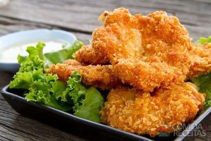 Receita de Filé de frango crocante em receitas de aves, veja essa e outras receitas aqui!