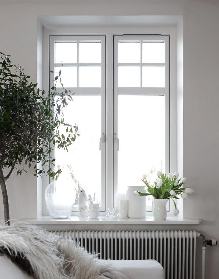 8 best vensterbank wit hout images on pinterest windows - Living room ledge decorating ideas ...