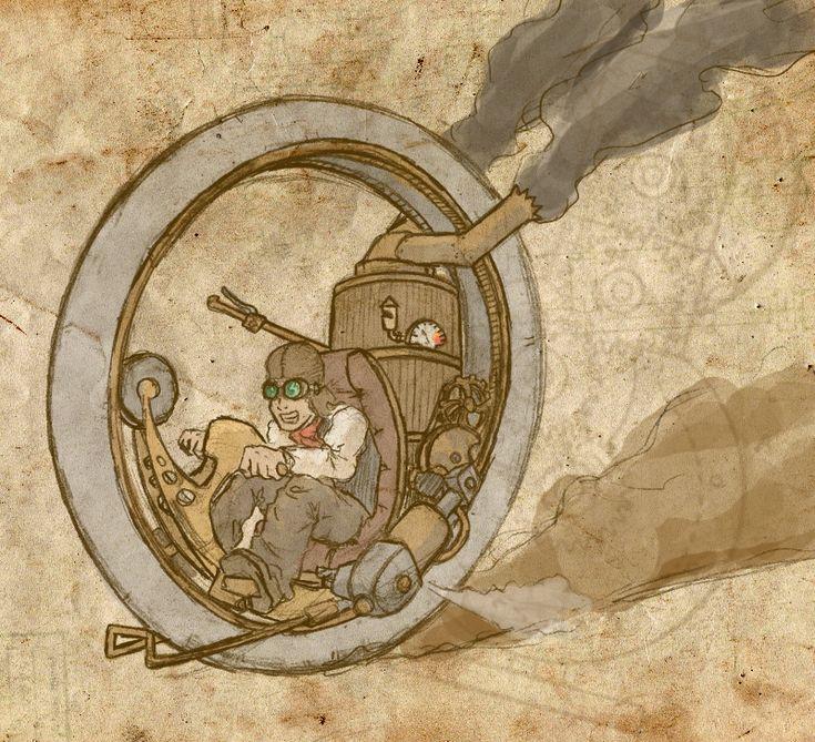 Steampunk big wheel