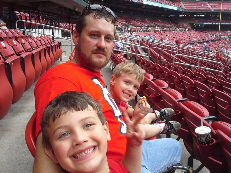 Steve and the boys at the Card's game!
