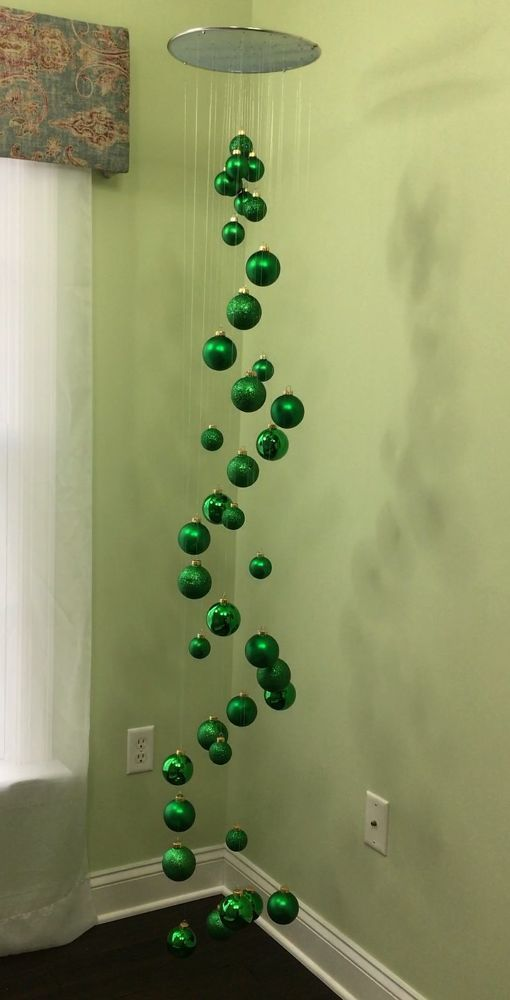 Splatter screen used to create a ceiling  hanging display