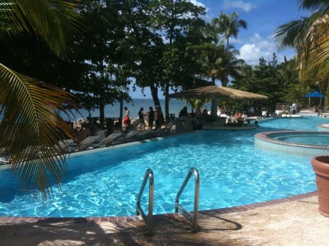 The pool at Rincon Beach Resort, Puerto Rico