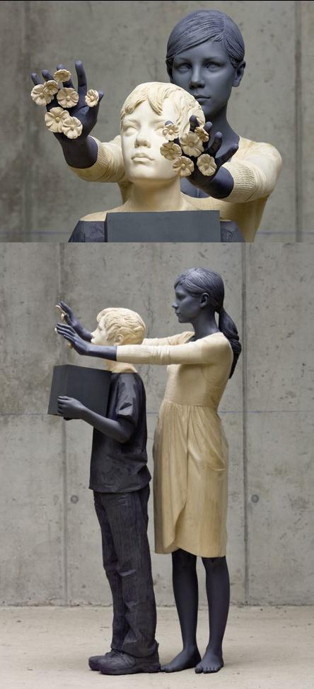 Willy Verginer I wood sculpture