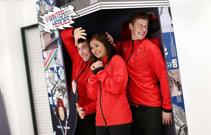UPBEAT -  (L-R) Glenn Muirhead, Eve Muirhead and Thomas Muirhead pose during the Team GB Kitting Out Ahead Of Pyeongchang 2018 Winter Olympic on Jan. 24 in Stockport, England.