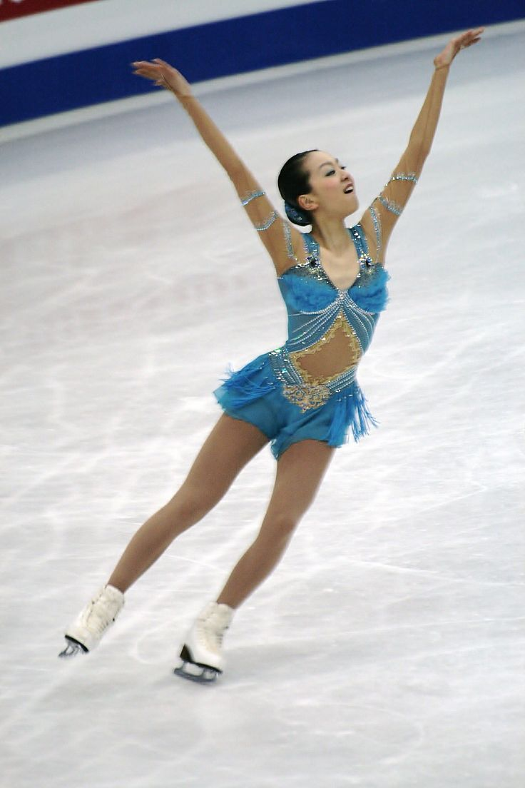 Mao Asada -Blue Figure Skating / Ice Skating dress inspiration for Sk8 Gr8 Designs.