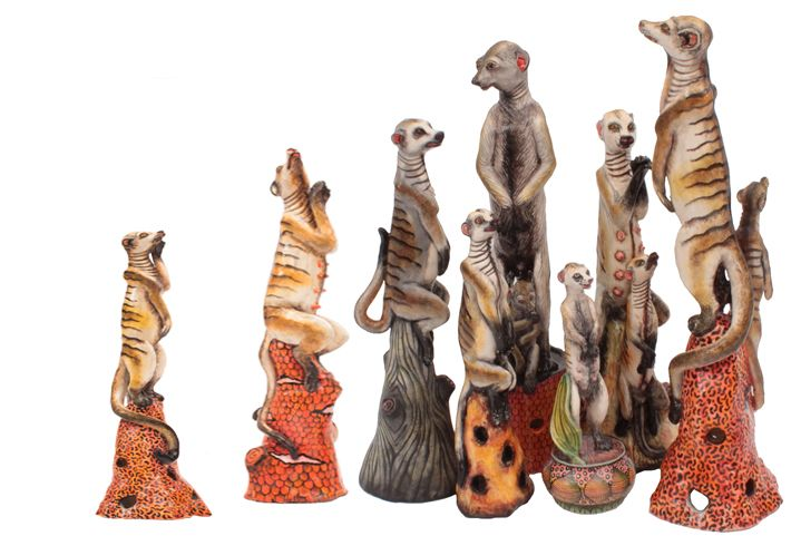 Our annual Cape Town exhibition at the Cellars Hohenort Hotel, Constantia, - 2016's theme is the 'Kalahari Cats' -  Exhibition introduces Ardmore's Meerkat Family Collection. Please join us on the 19th - 21st of February to view this extraordinary exhibition at the Cellars Hotel, Hohenort.