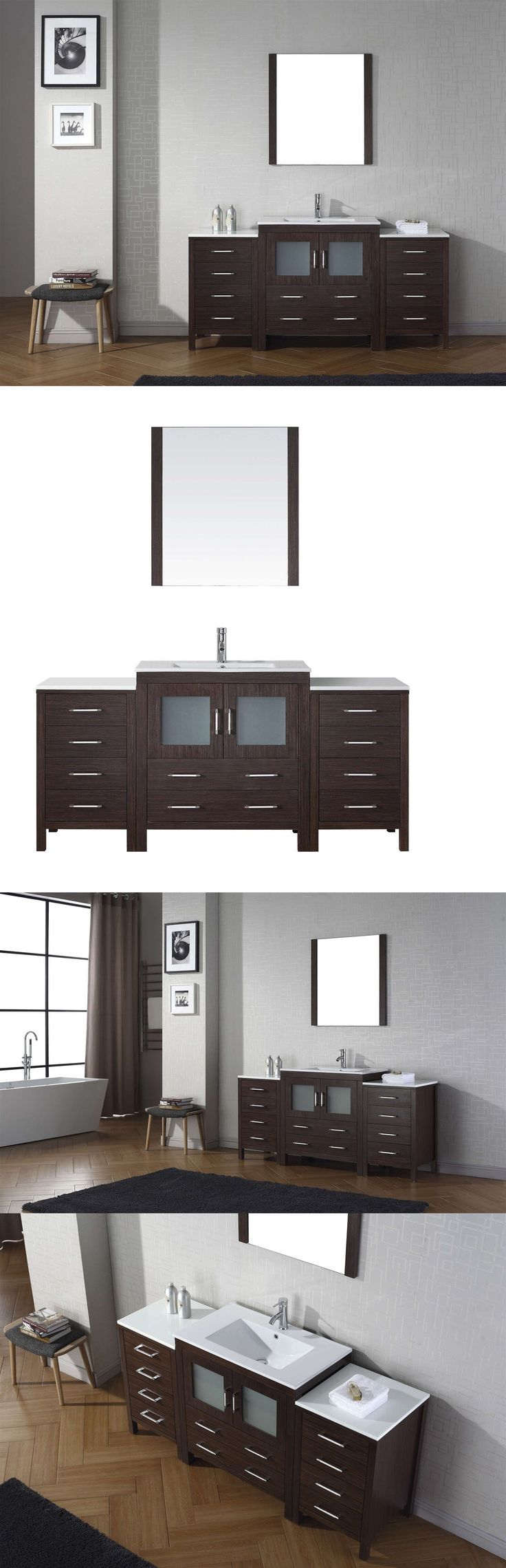 Vanities 115625: Dior 68 Single Sink Basin Bathroom Vanity Espresso Cabinet With Ceramic Top -> BUY IT NOW ONLY: $1159.71 on eBay!