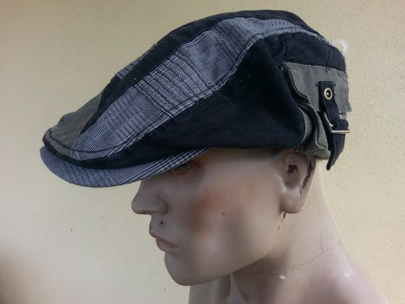 newsboy flat cap patchwork tweed gatsby baker by youareoutthere