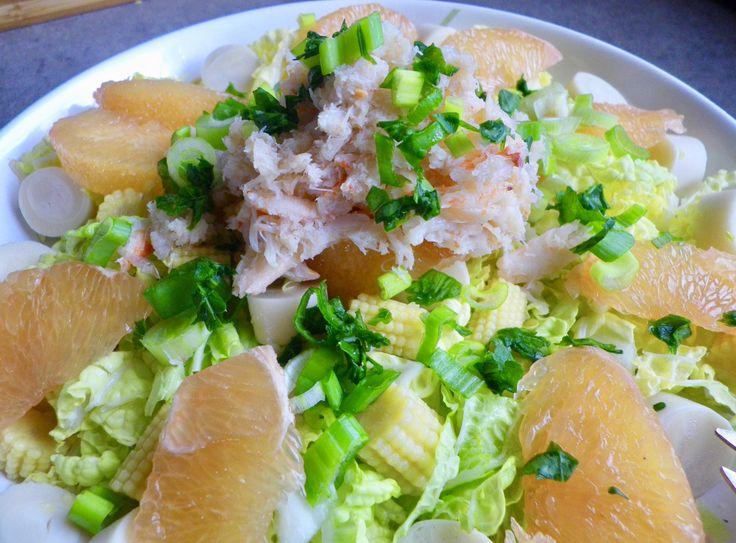 Salade de chou chinois, pamplemousse et crabe – Tea Time & Delicatessen
