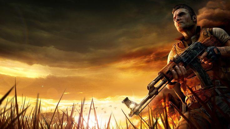 Impressive Far Cry Sky Machine Gun Grass Look Jack Carver Wallpaper « Kuff Games