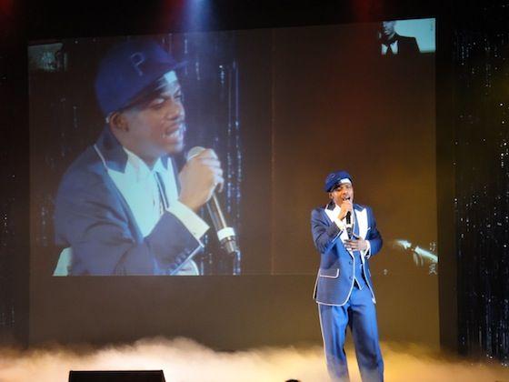 Jero sings enka onstage at Japan Society in NYC June 9, 2012.