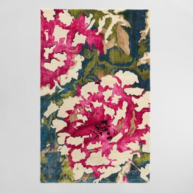 Floral Tufted Viscose And Wool Lombardy Area Rug, sale $299.99 - $524.99