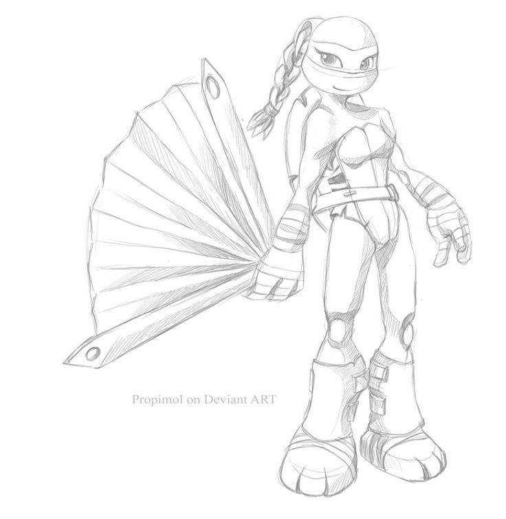 girl ninja turtles coloring pages - photo#12