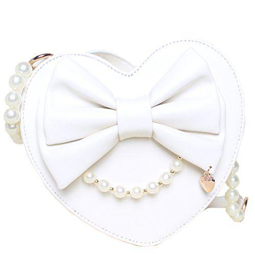 Partiss Maedchen Sweet Lolita Handtasche Japanische Heart Shaped PU Lack Handbag Retro Schultertasche College Lolita Umhaengetasche Handtasche,One Size,White Partiss http://www.amazon.de/dp/B01DOVPYL6/ref=cm_sw_r_pi_dp_2nG.wb1D98GBF