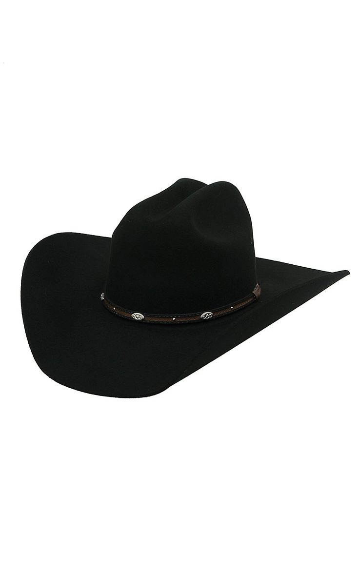 Rodeo King 3X Low Rodeo Black Felt Cowboy Hat- LRD3BK2112