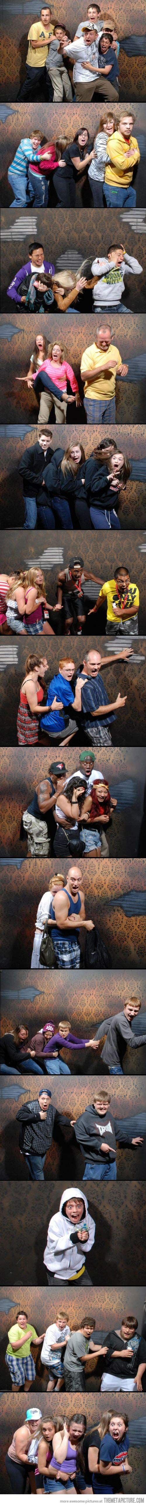 Meanwhile, inside the haunted house…--HAHAHAHAHAHHAA FOURTH ONE DOWN IS THE BEST.