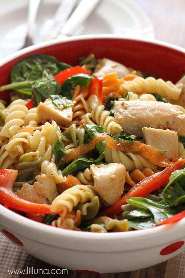 One of the best salads you'll ever have - Asian Pasta Salad! { lilluna.com } #salad