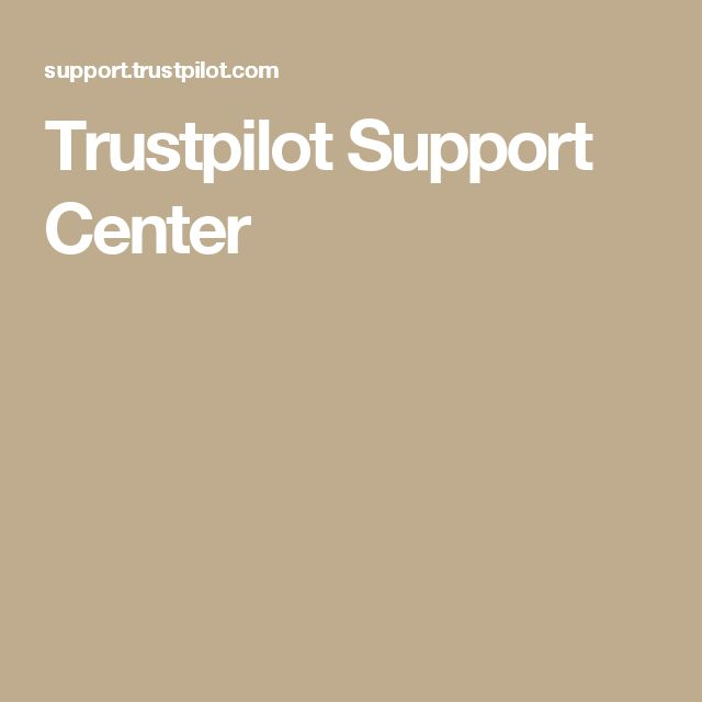 Trustpilot Support Center