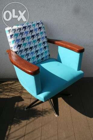 Fotel obrotowy PRL po renowacji design vintage lata 50 60 Komorniki - image 1
