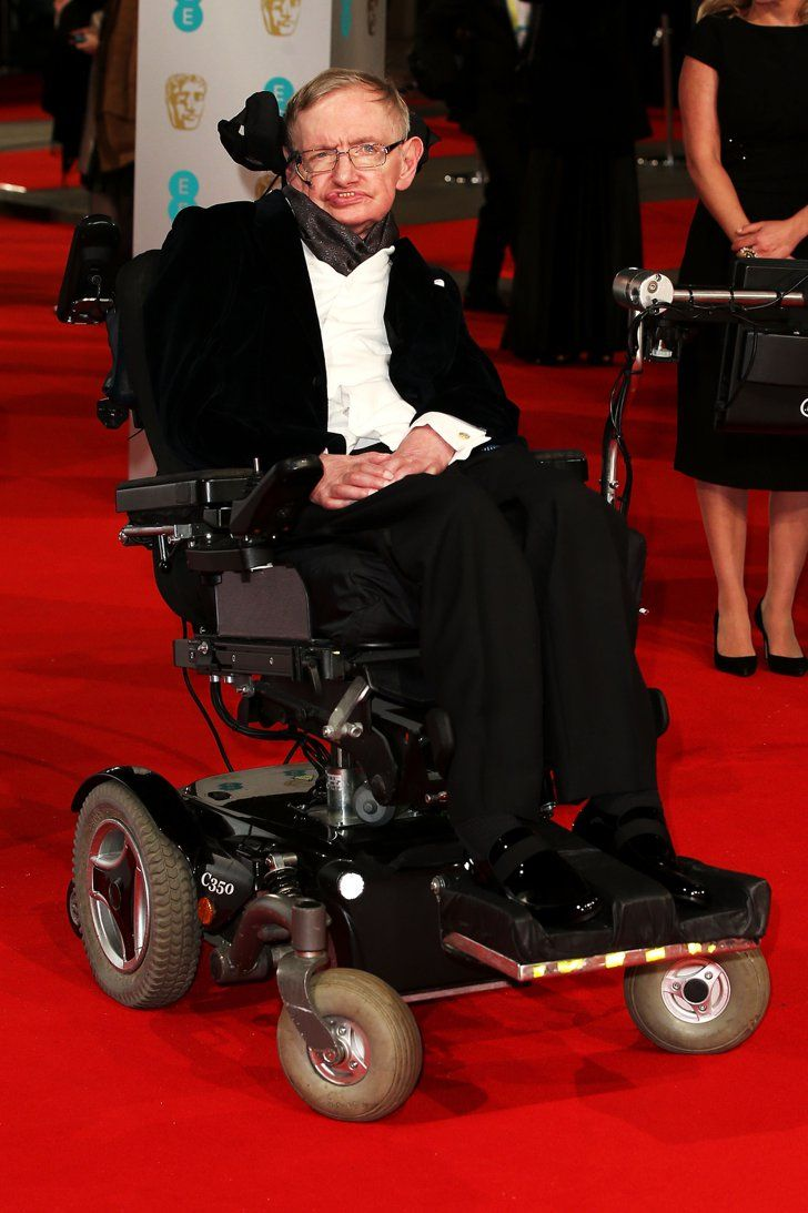 Pin for Later: Stars Go All Out on the BAFTA Awards Red Carpet in London Stephen Hawking