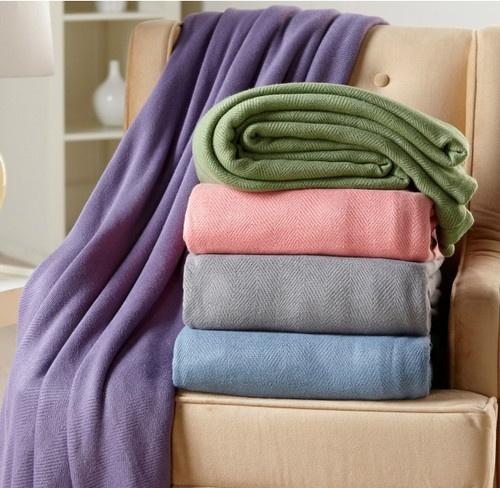 Grey - Vern Yip Home Herringbone Bamboo Rayon Blanket | eBay