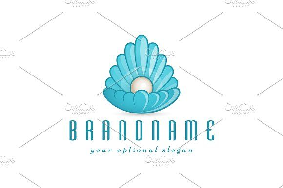 For sale. Only $29 - elegant, wave, water, jewel, beauty, sphere, drop, sea, shell, pearl, oyster, mineral, magical, luxury, ocean, blue, wedding, cosmetics, jewelry, spa, wellness, gem, treasure, precious, rare, throne, radiant, light, energy, logo, design, template,