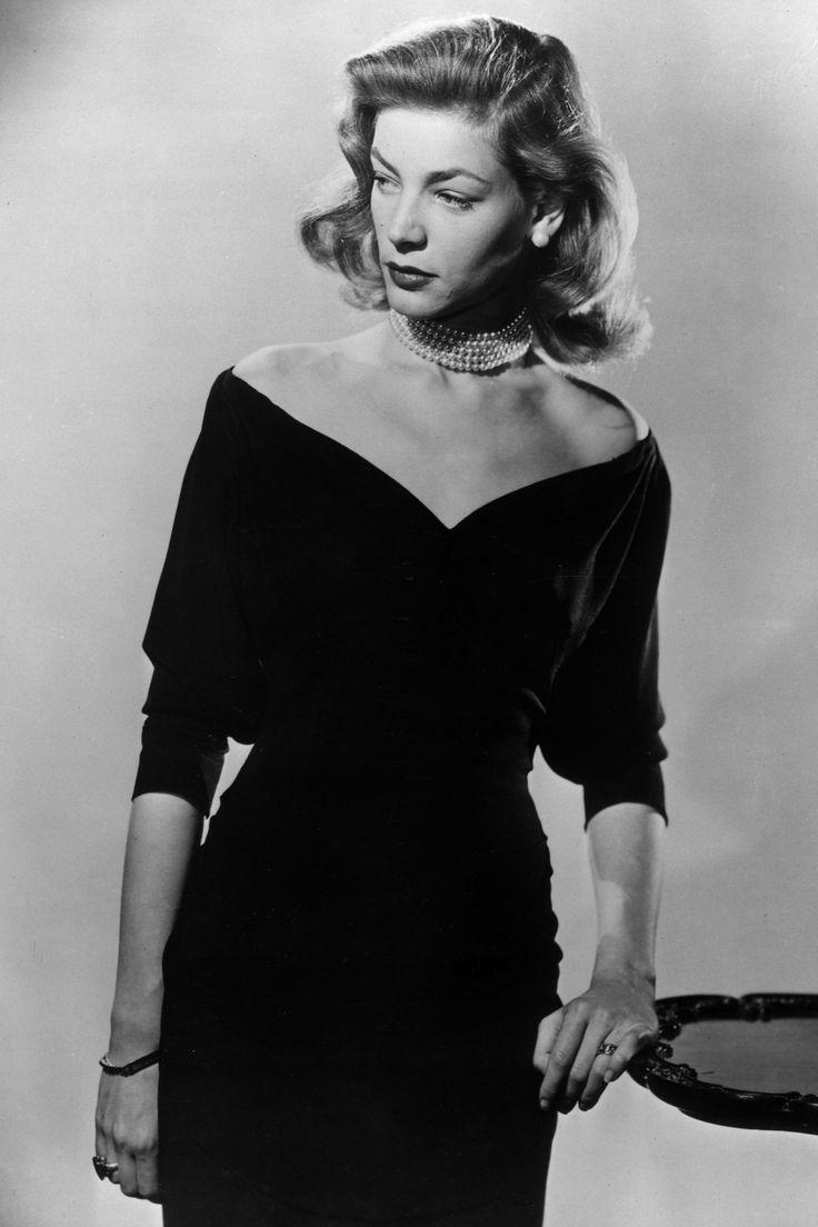 Lauren Bacall, 1945 // Getty Images - HarpersBAZAAR.com