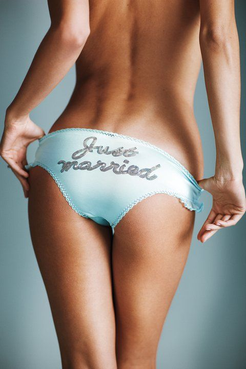 Just Married Panties #wedding