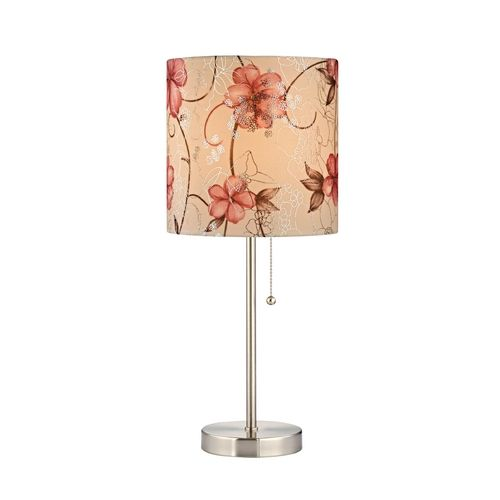 design classics lighting pull chain table lamp with floral rose drum. Black Bedroom Furniture Sets. Home Design Ideas