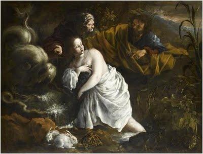 Suzanne et les vieillards, Domenico Guidobono (musée du Louvre)