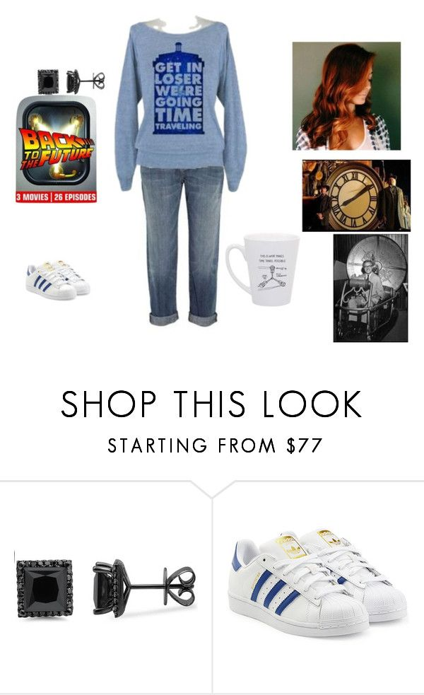 Lazy day binge-watching Back to the Future by cindy-renee-miller on Polyvore featuring adidas Originals