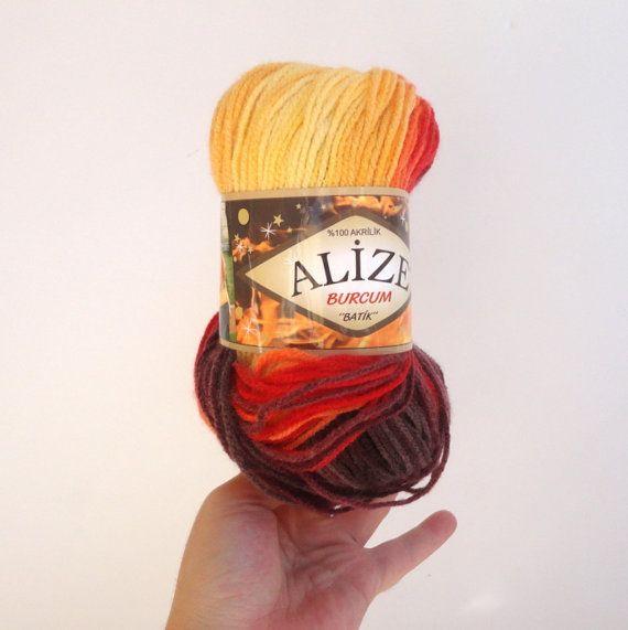 acrylic batik yarn knitting yarn crochet yarn  by yarnsupplies, $4.75