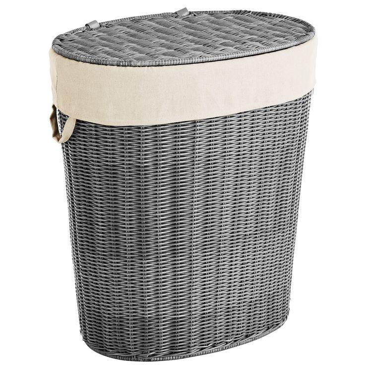 Collin Gray Wicker Laundry Hamper