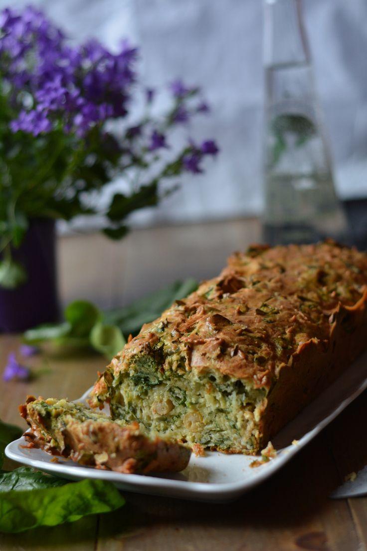 cake pois-chiches épinards
