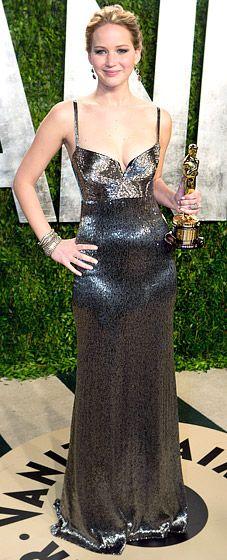 Jennifer Lawrence at 2013 Vanity Fair Oscar Party