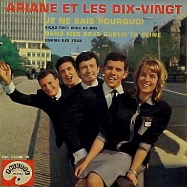 Ariane: Despite recording some top-notch tunes, Belgian singer Ariane remains largely overlooked in the history of francophone femme pop. Nevertheless, she enjoyed success, first with four friends as part of the group Ariane et les 10/20, and then after going solo. She was born Ariane Buyst in Brussels, Belgium, in 1944. Her father was a publisher of brass band music and owned a shop in the city that sold musical instruments.