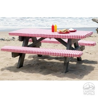 Fitted Vinyl Table And Seat Covers Dress Up Your Picnic Make Sitting More Comfortable