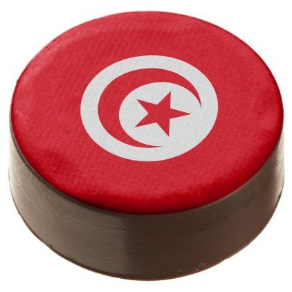 #Tunisia Flag Chocolate Covered Oreo - #country gifts style diy gift ideas