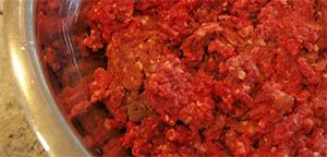Meatloaf made with ground moose.