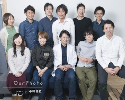 OurPhoto ブログ: Our Photoの撮影風景レポート ~社員撮影編 ベンチャー企業にて社員写真を撮ってきました〜