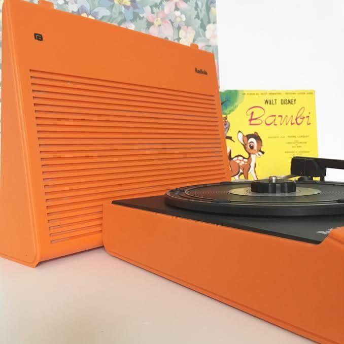 Orangevertevintage — Platine Tourne Disque Radiola Vintage