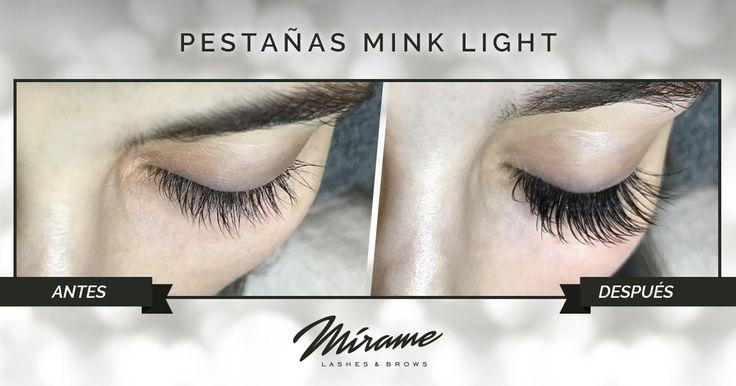 Extensiones de Pestañas 50% seda 50% sintéticas Mink Light miramexxl.com