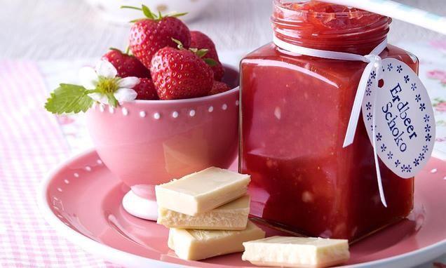 Erdbeerkonfitüre mit weisser Schokolade                               -                                  Einfach, aber unvergleichlich lecker!