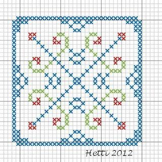 Creative Workshops from Hetti: SAL Delfts Blauwe Tegels, SAL Delft Blue Tiles, Tile 1