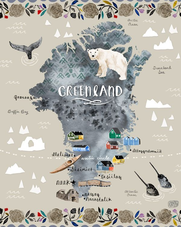 Travel Map Greenland - Katie Vernon.