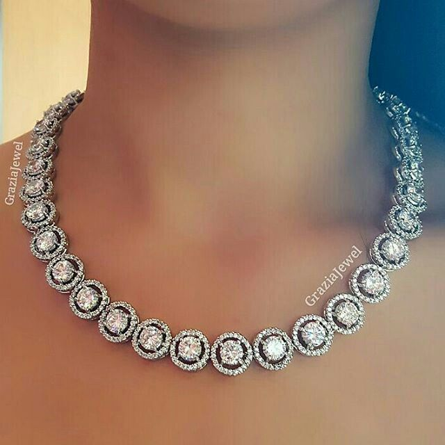 At @graziajewel. Classic necklace collection