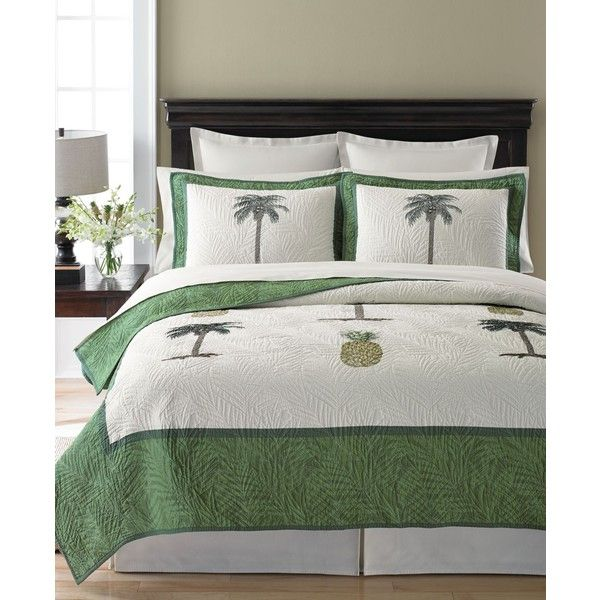 Martha Stewart Collection Pineapple Tropic Twin Quilt, ($117) ❤ liked on Polyvore featuring home, bed & bath, bedding, quilts, light beige, cream bedding, martha stewart, ivory bedding, martha stewart bed linens and beige bedding