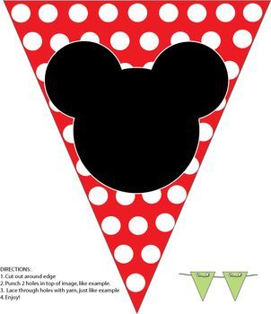 Mickey Banner, Mickey Mouse, Party Decorations - Free Printable Ideas from Family Shoppingbag.com
