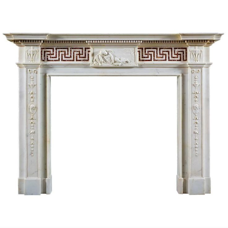 Antique English Neoclassical Fireplace Mantel For Sale at 1stdibs