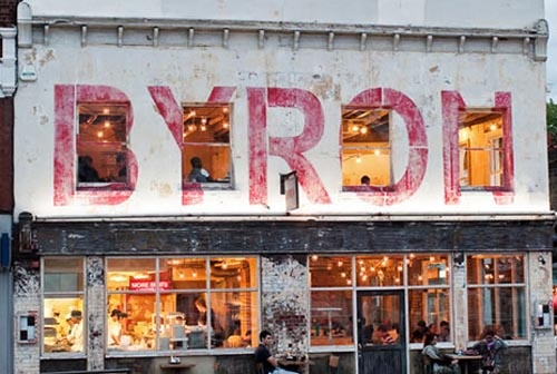 Byron burger in London.  menu looks great
